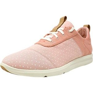 NEW Toms Cabrillo Coral pink Heritage Canvas Shoes